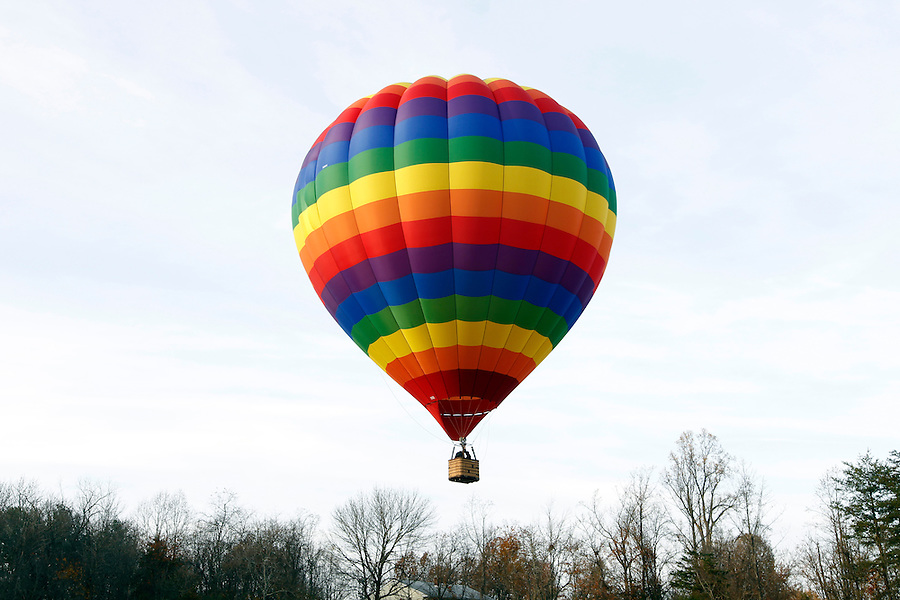A hot air balloon takes off in Louisa County, VA. Photo/Andrew Shurtleff