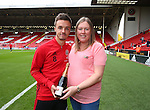 Stefan Scougall of Sheffield Utd is presented with his man of the match award from the Oxford game during the League One match at Bramall Lane Stadium, Sheffield. Picture date: September 17th, 2016. Pic Simon Bellis/Sportimage