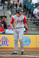 Lowell Spinners outfielder Bryce Brentz (14) during game against the Brooklyn Cyclones at MCU Park in Brooklyn, NY July 20, 2010.  Photo By Tomasso DeRosa/ Four Seam Images