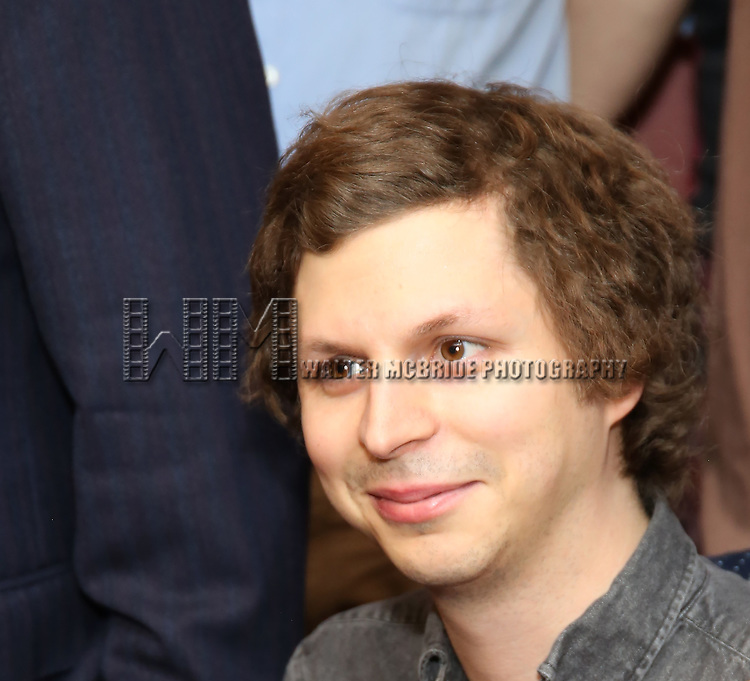 Michael Cera attends the unveiling of the Kenneth Lonergan caricature at Sardi's on February 17, 2017 in New York City.