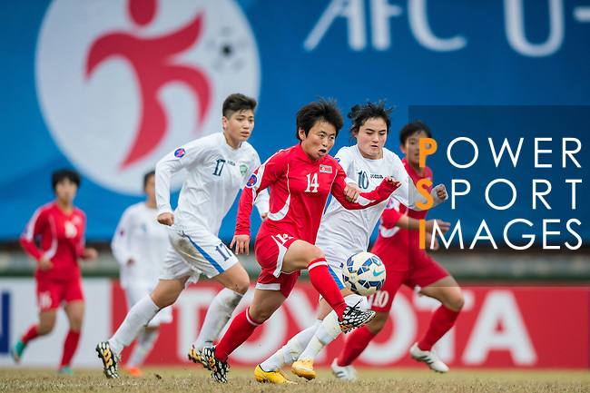 Uzbekistan plays against DPR Korea during the AFC U-16 Women's Championship China 2015 Group B match at the Hankou Culture & Sports Centre Stadium on 07 November 2015 in Wuhan, China. Photo by Aitor Alcalde / Power Sport Images