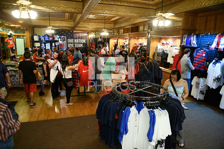 Orlando, FL - Friday Oct. 06, 2017: US Soccer Store before a 2018 FIFA World Cup Qualifier between the men's national teams of the United States (USA) and Panama (PAN) at Orlando City Stadium.