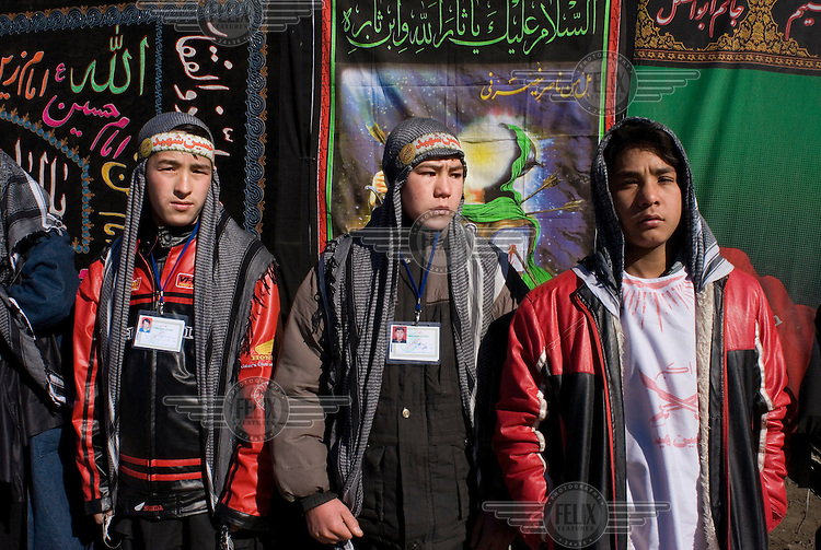 Young onlookers on The Day of Ashura, which is celebrated by Shia Muslims around the world, and commemorates the martyrdom of the Prophet Mohammed's grandson, Imam Hussein.