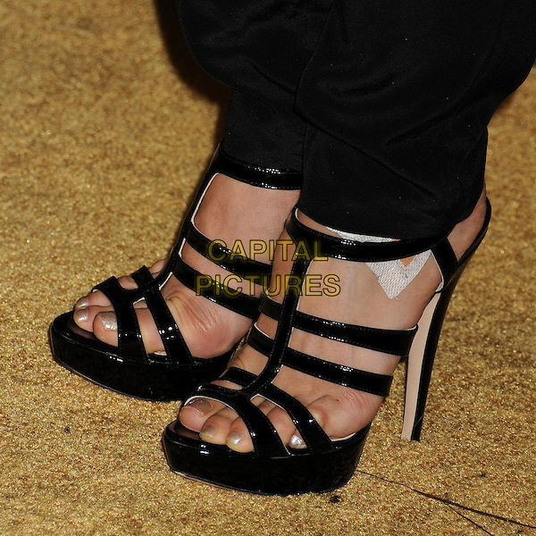 Anna Trebunskaya's shoes.Entertainment Weekly's 2012 Pre-Emmy Party held at Fig & Olive, West Hollywood, California, USA..September 21st, 2012.detail feet heels sandals straps plaster bandage   .CAP/ADM/BP.©Byron Purvis/AdMedia/Capital Pictures.