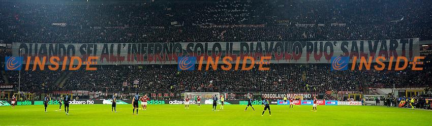 Coreografia tifosi Milan Supporters<br /> Milano 23-11-2014 Stadio Giuseppe Meazza - Football Calcio Serie A Milan - Inter. Foto Giuseppe Celeste / Insidefoto