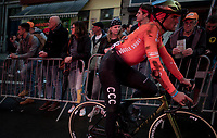 Greg Van Avermaet (BEL/CCC) showing the results of a late race crash when finishing<br /> <br /> 105th Liège-Bastogne-Liège 2019 (1.UWT)<br /> One day race from Liège to Liège (256km)<br /> <br /> ©kramon