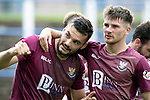 Queen of the South v St Johnstone&hellip;18.08.18&hellip;  Palmerston    BetFred Cup<br />Tony Watt and Matty Kennedy celebrate<br />Picture by Graeme Hart. <br />Copyright Perthshire Picture Agency<br />Tel: 01738 623350  Mobile: 07990 594431