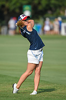Austin Ernst (USA) hits her approach shot from the rough on 18 during round 1 of the 2019 US Women's Open, Charleston Country Club, Charleston, South Carolina,  USA. 5/30/2019.<br /> Picture: Golffile | Ken Murray<br /> <br /> All photo usage must carry mandatory copyright credit (© Golffile | Ken Murray)