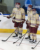 Austin Cangelosi (BC - 26), Bill Arnold (BC - 24), Patrick Brown (BC - 23), Matthew Gaudreau (BC - 21) - The Boston College Eagles defeated the University of Denver Pioneers 6-2 in their NCAA Northeast Regional semi-final on Saturday, March 29, 2014, at the DCU Center in Worcester, Massachusetts.