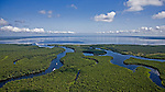 North View of Lake George over the St. Johns River Florida helicopter aerial