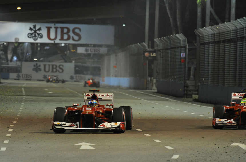 .Fernando Alonso (ESP),  Scuderia Ferrari ..2012 FIA Formula One World Championship - Singtel Formula One Grand Prix, Marina Bay Street Circuit, Singapore, Singapore, Friday 21st September 2012...