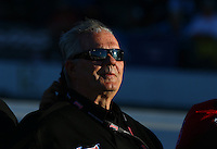 Jul. 26, 2013; Sonoma, CA, USA: NHRA pro stock team owner Ken Black during qualifying for the Sonoma Nationals at Sonoma Raceway. Mandatory Credit: Mark J. Rebilas-