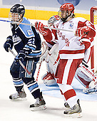 Mike Hamilton, Kyle Klubertanz - The University of Wisconsin Badgers defeated the University of Maine Black Bears 5-2 in their 2006 Frozen Four Semi-Final meeting on Thursday, April 6, 2006, at the Bradley Center in Milwaukee, Wisconsin.  Wisconsin would go on to win the Title on April 8, 2006.