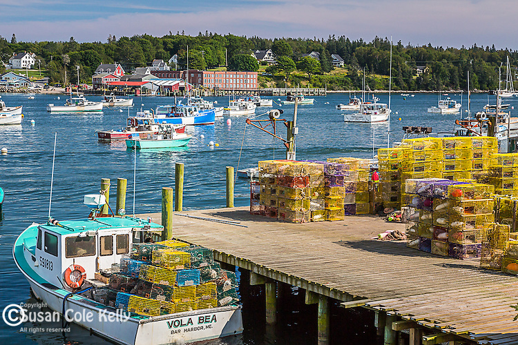 Harbor scene in Bernard, Maine, USA