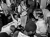 Oakland Athletics celebrate AL Divisional Title in 1975<br />