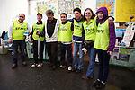 """Minamisanriku, Miyagi, Japan - Volunteers of the Latin group """"Todos con Japon"""" at Minamisanriku Volunteer Center, one year after the tsunami. The Latin group of volunteers """"Todos con Japon"""" visits Miyagi area during this Golden Week."""