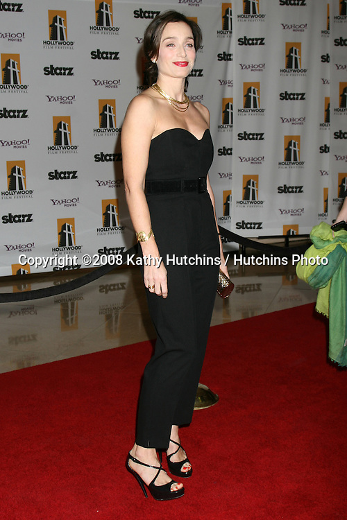 Kristin Scott Thomas arriving to the Hollywood Film Festival Awards Gala at the Beverly Hilton Hotel in Beverly Hills, CA  on.October 27, 2008.©2008 Kathy Hutchins / Hutchins Photo...                .