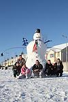 Giant Snowman in Duleek 2/12/10