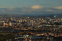Glasgow and the Campsie Fells at dawn from Cathkin Braes, Glasgow<br /> <br /> Copyright www.scottishhorizons.co.uk/Keith Fergus 2011 All Rights Reserved