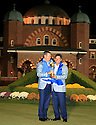 Lee Westwood of Team Europe poses with Jose Maria Olazabal after the closing ceremony of the 39th Ryder Cup matches, Medinah Country Club, Chicago, Illinois, USA.  28-30 September 2012 (Picture Credit / Phil Inglis)