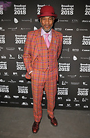 Danny John-Jules at the Broadcast Awards 2018, Grosvenor House Hotel, Park Lane, London, England, UK, on Wednesday 07 February 2018.<br /> <br /> CAP/CAN<br /> &copy;CAN/Capital Pictures