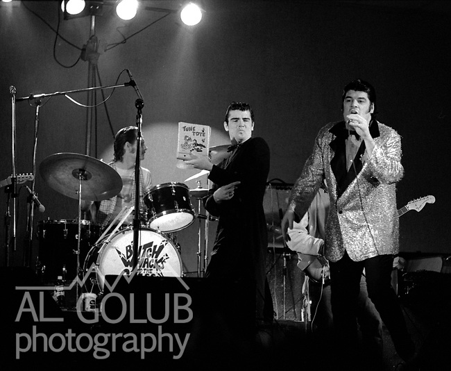 Bob Sarlatte  with Butch Whacks and the Glass Packs, Modesto,Ca,March 8th, 1974 At The California Ballroom Rockn' Chair Productions.<br /> Photo by Al Golub/Golub Photography