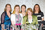 Mary O'Neill, Linda  and Kay Bruggener, Ann Marie Riordan and Mary Fleming enjoying the Muckross Rowing club fashion show in the Killarney Oaks Hotel on Friday night ..