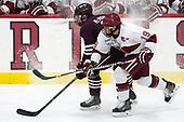 Bobby McMann (Colgate - 9), Jake Horton (Harvard - 19) - The visiting Colgate University Raiders shut out the Harvard University Crimson for a 2-0 win on Saturday, January 27, 2018, at Bright-Landry Hockey Center in Boston, Massachusetts.