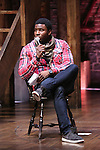 Okieriete Onaodowan performing before the Gilder Lehman Institute of American History Education Matinee of 'Hamilton' at the Richard Rodgers  Theatre on November 2, 2016 in New York City.
