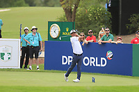 Hideto Tanihara (JPN) on the 13th tee during the 3rd round of the DP World Tour Championship, Jumeirah Golf Estates, Dubai, United Arab Emirates. 17/11/2018<br /> Picture: Golffile | Fran Caffrey<br /> <br /> <br /> All photo usage must carry mandatory copyright credit (&copy; Golffile | Fran Caffrey)