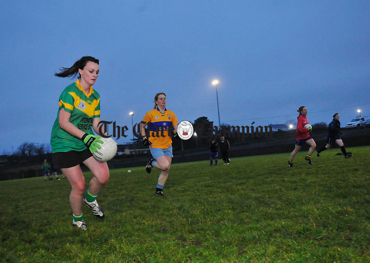 The Kilmihil Ladies team during training at the weekend. Photograph by Declan Monaghan