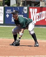 June 27, 2004:  First baseman Josh Bonifay of the Altoona Curve, Double-A affiliate of the Pittsburgh Pirates, during a game at Jerry Uht Park in Erie, PA.  Photo by:  Mike Janes/Four Seam Images