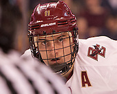 Chris Calnan (BC - 11) - The Boston College Eagles defeated the Harvard University Crimson 3-2 in the opening round of the Beanpot on Monday, February 1, 2016, at TD Garden in Boston, Massachusetts.