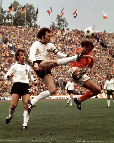 07.07.1974 Munich, Germany Franz Beckenbauer in action for West Germany against Holland in the 1974 World Cup Final in the Olympic Stadium, Munich...West Germany won the match 2-1 to be crown world champions.
