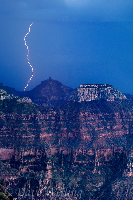 749220220v during a monsoon summer lightning strikes the weather eroded formations along the north rim of grand canyon national park in northern arizona