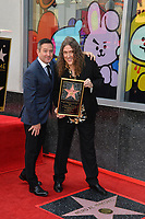 LOS ANGELES, CA. August 27, 2018: Weird Al Yankovic & Thomas Lennon at the Hollywood Walk of Fame Star Ceremony honoring 'Weird Al' Yankovic.