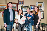Baby Rian Kennelly with his parents Tim & Margaret Kennelly, Moyvane and sister Chloe & brother Darragh and god parents Jamie Healy & Sarah Hennessy who was christened in Moyvane Church on Sunday 27th Decenmber by Fr. Kevin McNamara and afterwards at the Kingdom Bar, Listowel.
