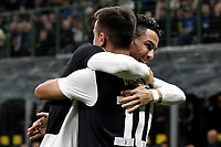 Paulo Dybala of Juventus celebrates with Cristiano Ronaldo after scoring the goal of 0-1 for his side <br /> Milano 6-10-2019 Stadio Giuseppe Meazza <br /> Football Serie A 2019/2020 <br /> FC Internazionale - Juventus FC <br /> Photo Andrea Staccioli / Insidefoto