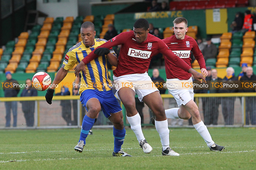 Ryan Imbert in action for Romford - Romford vs Potters Bar Town - Ryman League Division One North Football at Thurrock FC, Ship Lane - 03/11/12 - MANDATORY CREDIT: Gavin Ellis/TGSPHOTO - Self billing applies where appropriate - 0845 094 6026 - contact@tgsphoto.co.uk - NO UNPAID USE.