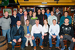 Seamus McCarthy Killarney seated centre who celebrated his retirement after closing his gym Sporty's Gym with his friends and family in Charlie Foley's bar on Thursday night