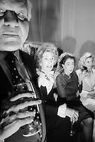 designer Bill blass with Nancy Kissenger, Mica Ertegun, and Duane Hampton at 7th on Sale benifit in 1995