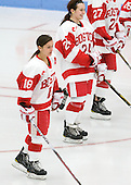 Jillian Kirchner (BU - 18), Taylor Holze (BU - 24) - The Boston University Terriers defeated the visiting Northeastern University Huskies 3-0 on Tuesday, December 7, 2010, at Walter Brown Arena in Boston, Massachusetts.