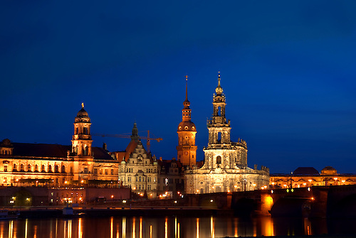 Dresden night time, Germany