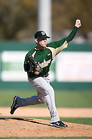 February 20, 2009:  Pitcher Teddy Kaufman (22) of the University of South Florida during the Big East-Big Ten Challenge at Jack Russell Stadium in Clearwater, FL.  Photo by:  Mike Janes/Four Seam Images