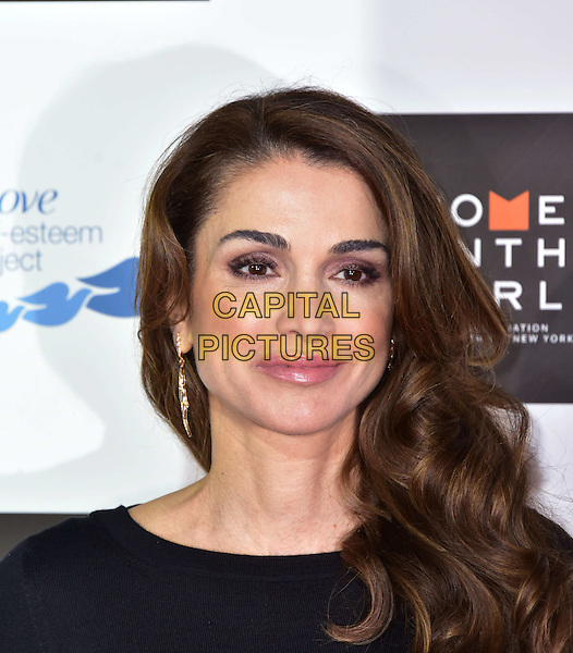 LONDON, UK, 08 OCT: Queen Rania of Jordan at the New York-originated summit comes to London for the first time, featuring activists, CEOs, peacemakers, entrepreneurs, and firebrand dissidents, at Cadogan Hall, London, 8 October 2015.<br /> CAP/JOR<br /> &copy;Nils Jorgensen/Capital Pictures