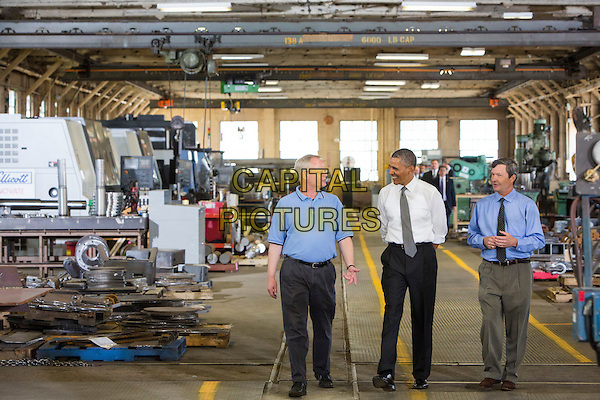 President Barack Obama tours Ellicott Dredges, a manufacturer of dredging equipment in Baltimore, Maryland to highlight American manufacturing on May 17, 2013..full length .CAP/ADM/CNP/KT.©Kristoffer Tripplaar/CNP/AdMedia/Capital Pictures