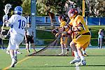 Rancho Santa Margarita, CA 04/30/10 - Mitchell Kingsley (Santa Margarita #10) and Chris Charter (Torrey Pines #16) in action during the Rancho Santa Margarita CHS-Torrey Pines boys varsity lacrosse game.