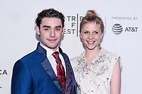 "NEW YORK CITY - APRIL 20: Alex Rich and Clemence Poesy attend National Geographic's ""Genius: Picasso"" red carpet event at the Tribeca Film Festival at the BMCC Tribeca Performing Arts Center on April 20, 2018 in New York City. (Photo by Anthony Behar/National Geographic/PictureGroup)"