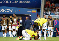 MOSCU - RUSIA, 03-07-2018: Johan MOJICA y Cristian ZAPATA jugadores de Colombia lucen decepcionados después del partido de octavos de final entre Colombia y Inglaterra por la Copa Mundial de la FIFA Rusia 2018 jugado en el estadio del Spartak en Moscú, Rusia. / Johan MOJICA and Cristian ZAPATA players of Colombia look disappointed after the match between Colombia and England of the round of 16 for the FIFA World Cup Russia 2018 played at Spartak stadium in Moscow, Russia. Photo: VizzorImage / Julian Medina / Cont