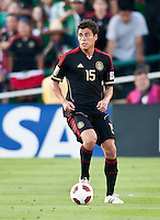 PASADENA, CA – June 25, 2011: Mexican player Hector Moreno (15) during the Gold Cup Final match between USA and Mexico at the Rose Bowl in Pasadena, California. Final score USA 2 and Mexico 4.